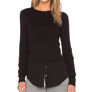 Theory Mikaela Thermal Shirttail Layered Pullover